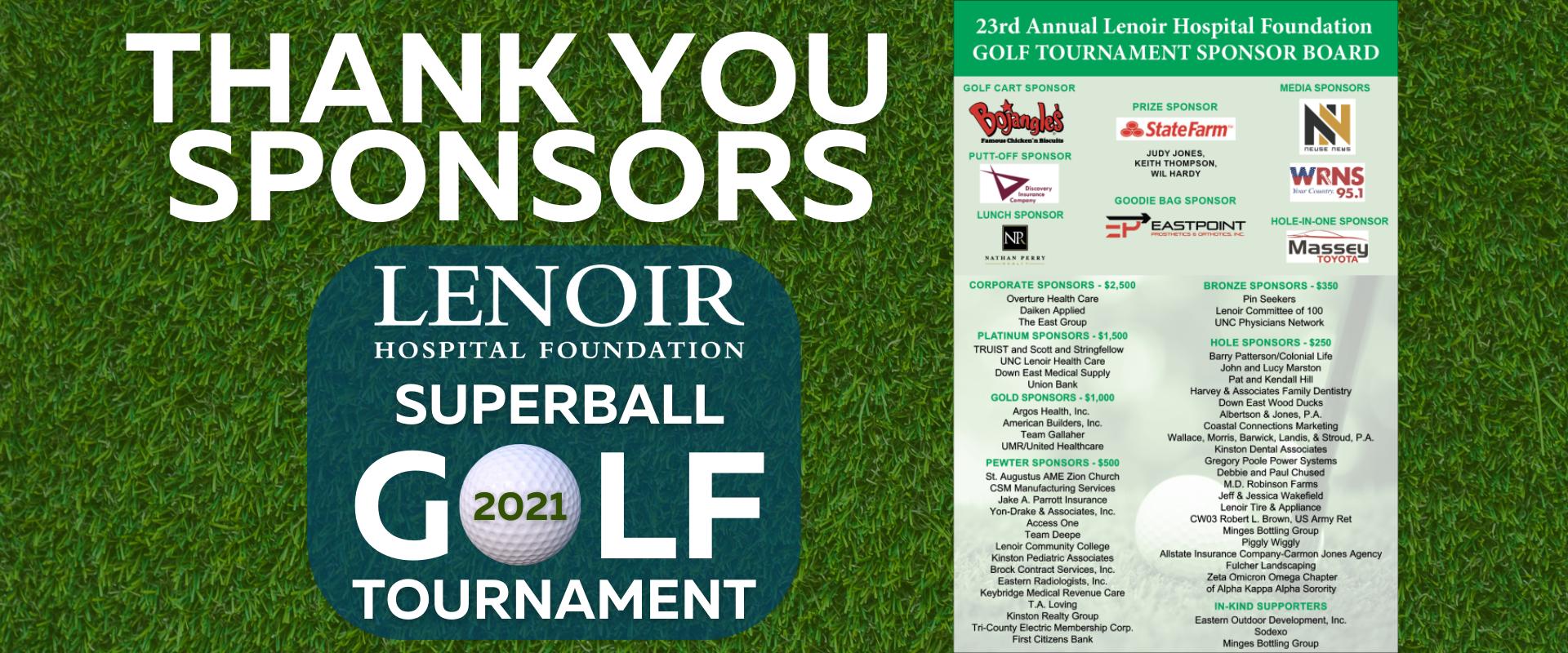 Golf Tournament Sponsor Banner